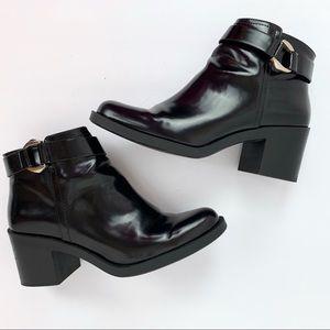 Zara Trafaluc Black Booties Size 10/41